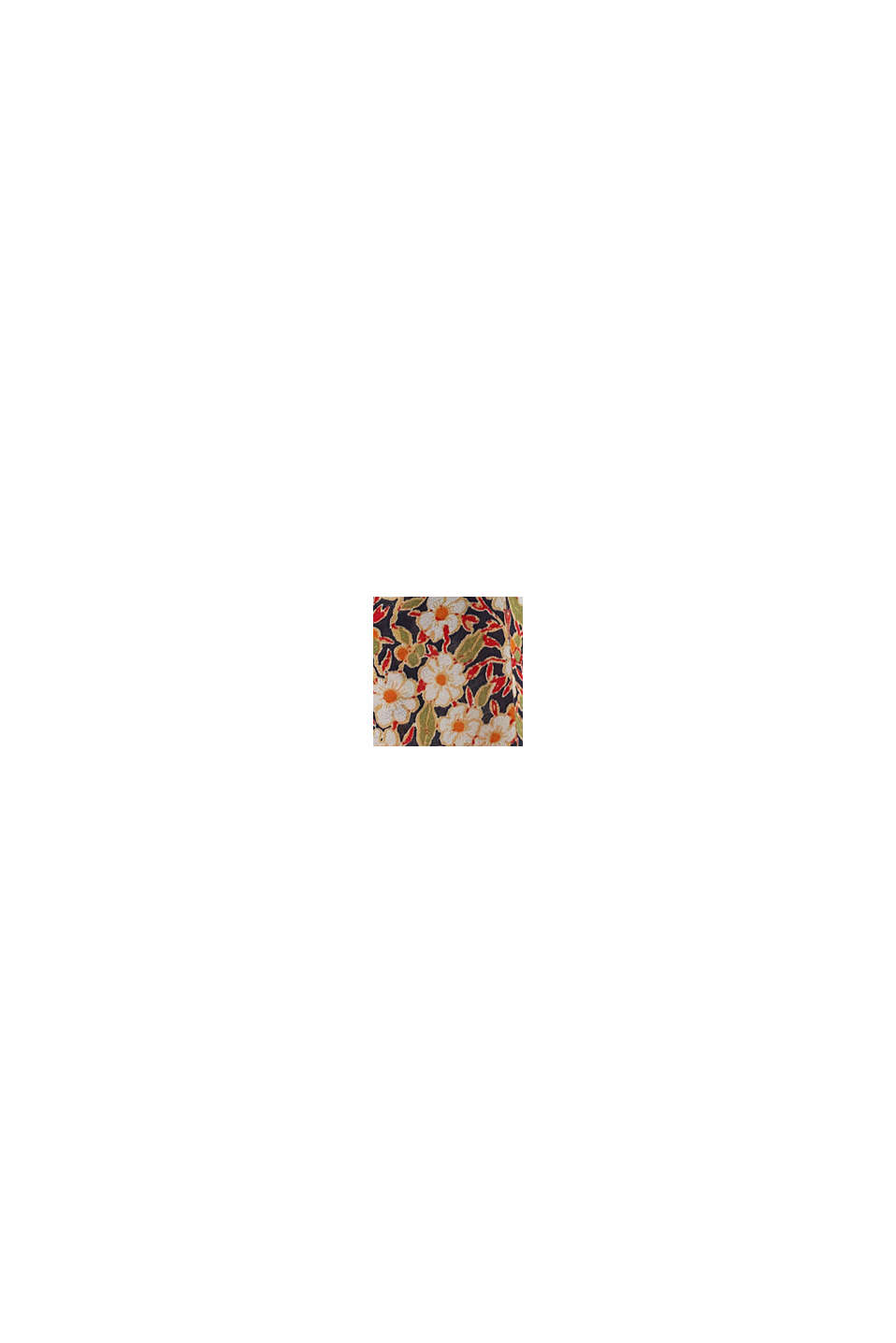 Midi-Blumen-Rock aus LENZING™ ECOVERO™, NAVY, swatch
