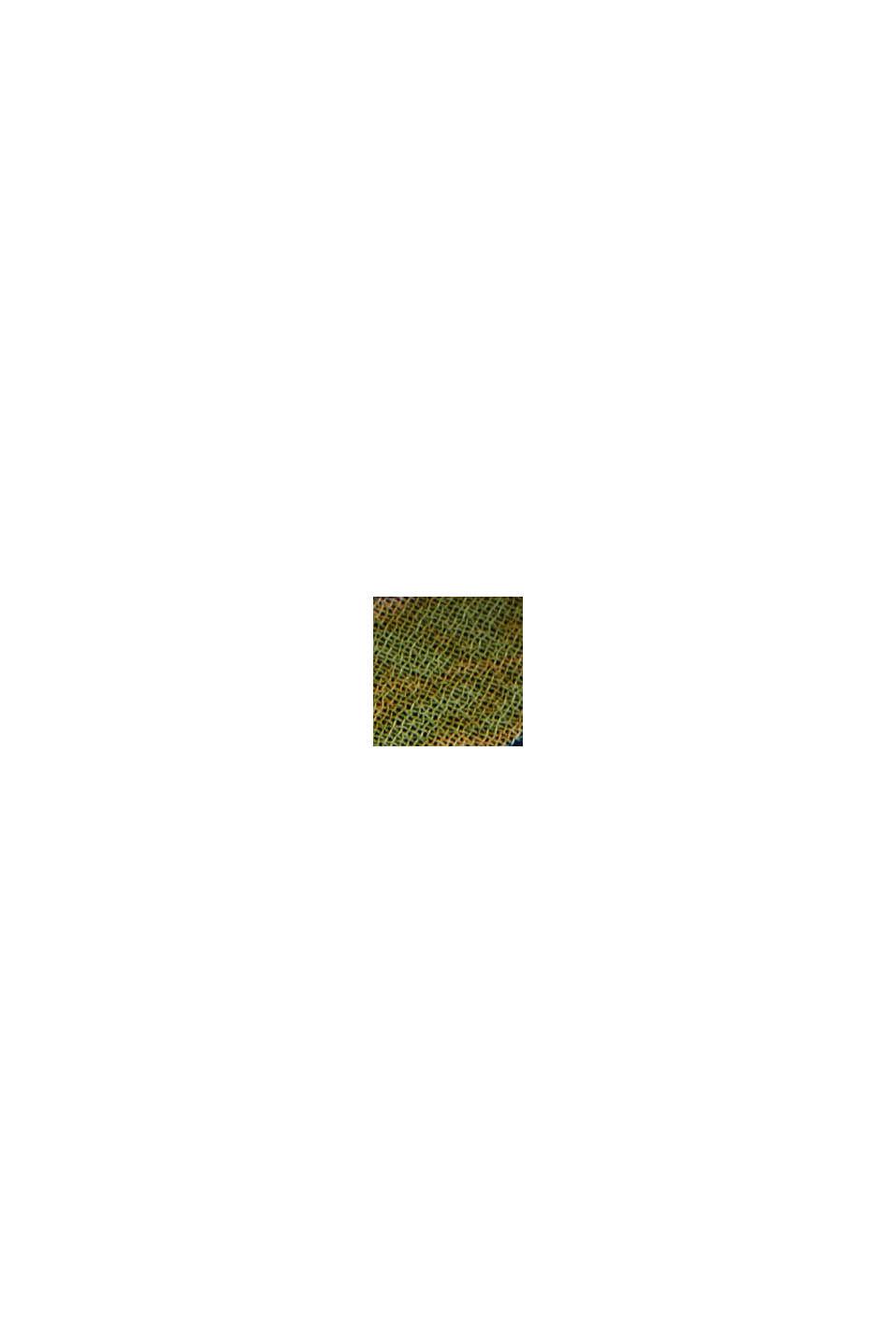 Recycelt: Volant-Midi-Rock mit Blumen-Print, NAVY, swatch