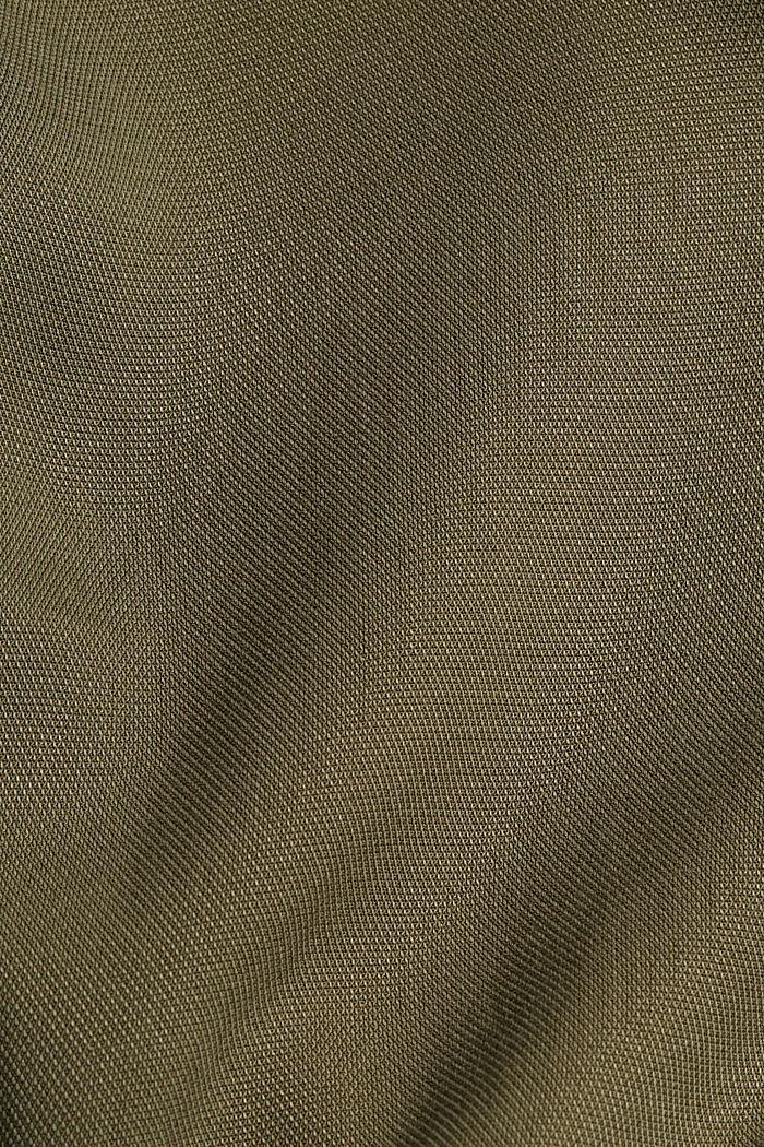 En TENCEL™: vestido camisero con volantes, KHAKI GREEN, detail image number 4