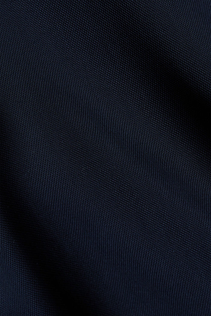 Made of TENCEL™: Shirt dress with flounces, NAVY, detail image number 5