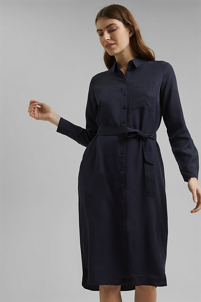Abito camicia in lyocell TENCEL™, NAVY, detail image number 0