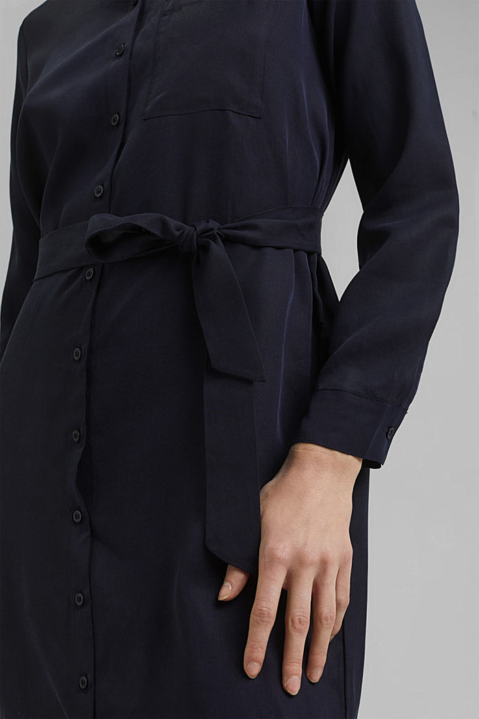Abito camicia in lyocell TENCEL™, NAVY, detail image number 3
