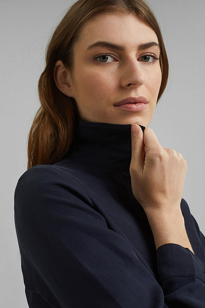 Abito camicia in lyocell TENCEL™, NAVY, detail image number 5