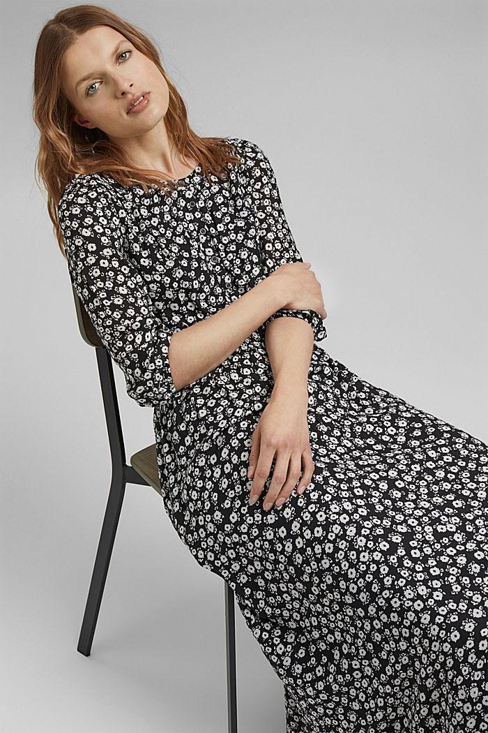 Midi-jurk met millefleurs van LENZING™ ECOVERO™