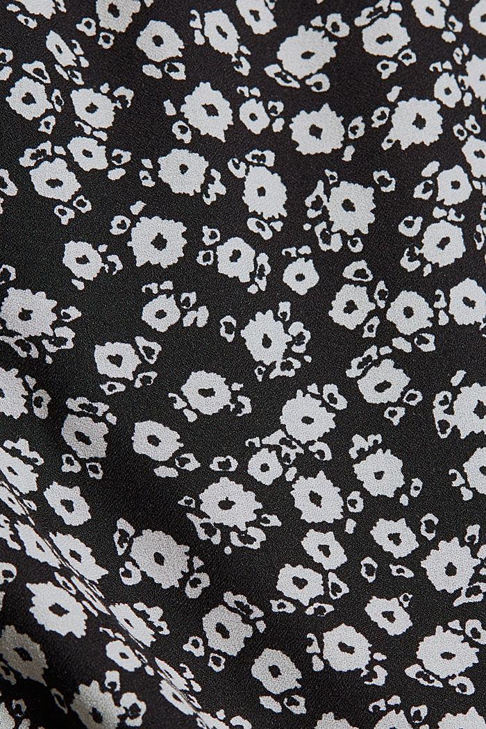 Millefleur-midimekko LENZING™ ECOVERO™ -materiaalia, BLACK, detail image number 4