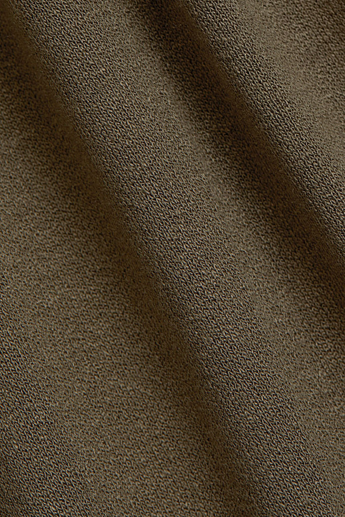 Jersey dress made of LENZING™ ECOVERO™, KHAKI GREEN, detail image number 4