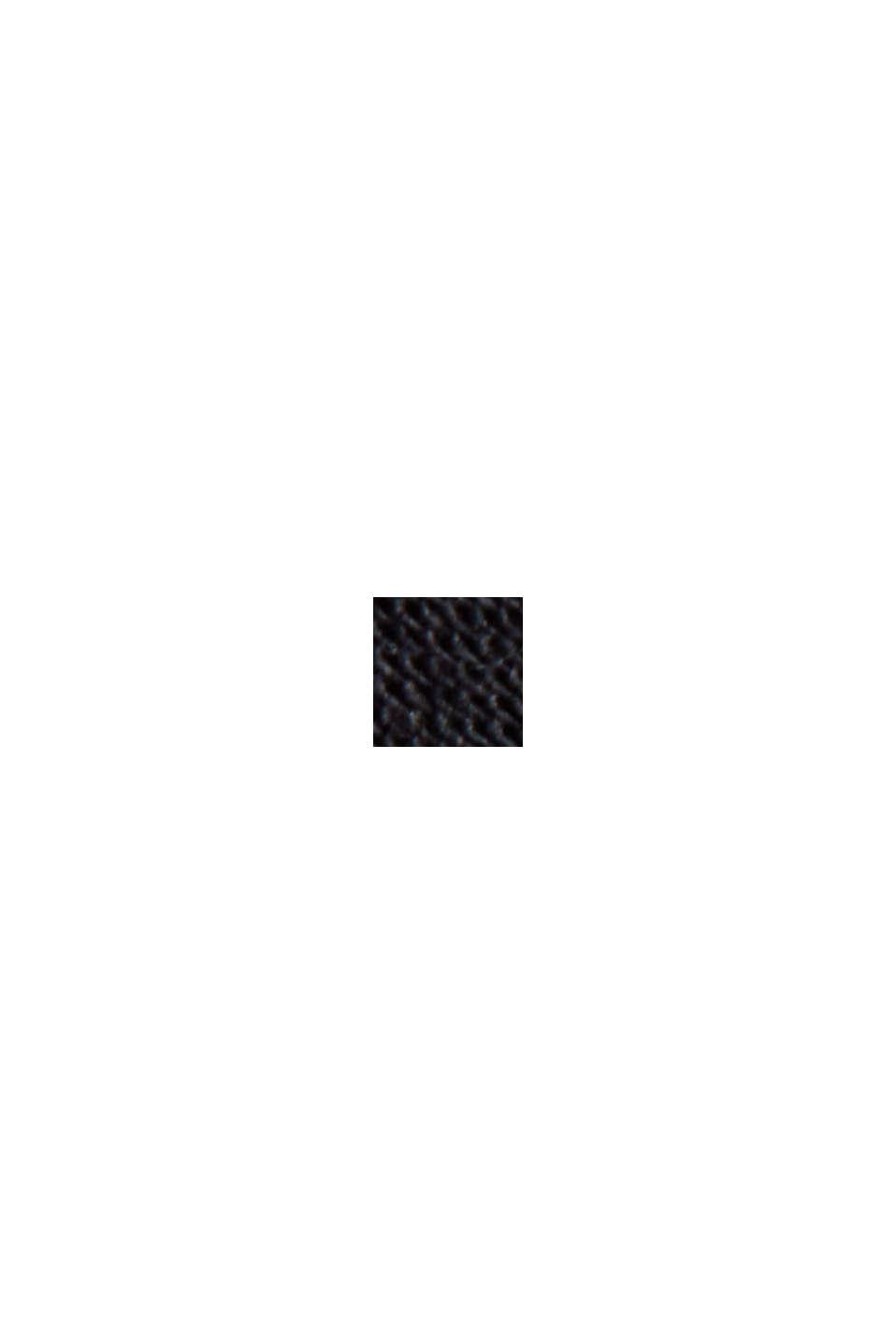 Kleid mit Lochstickerei, 100% Bio-Baumwolle, BLACK, swatch