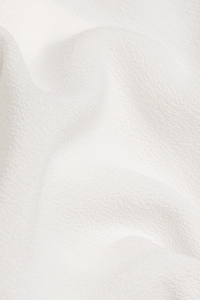 Blødt faldende skjortebluse med volant, OFF WHITE, detail image number 4