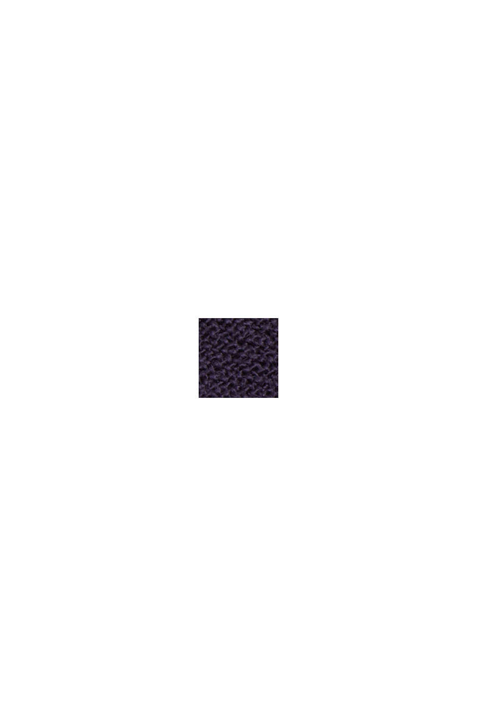 Fließende Hemdbluse mit Volant, NAVY, swatch