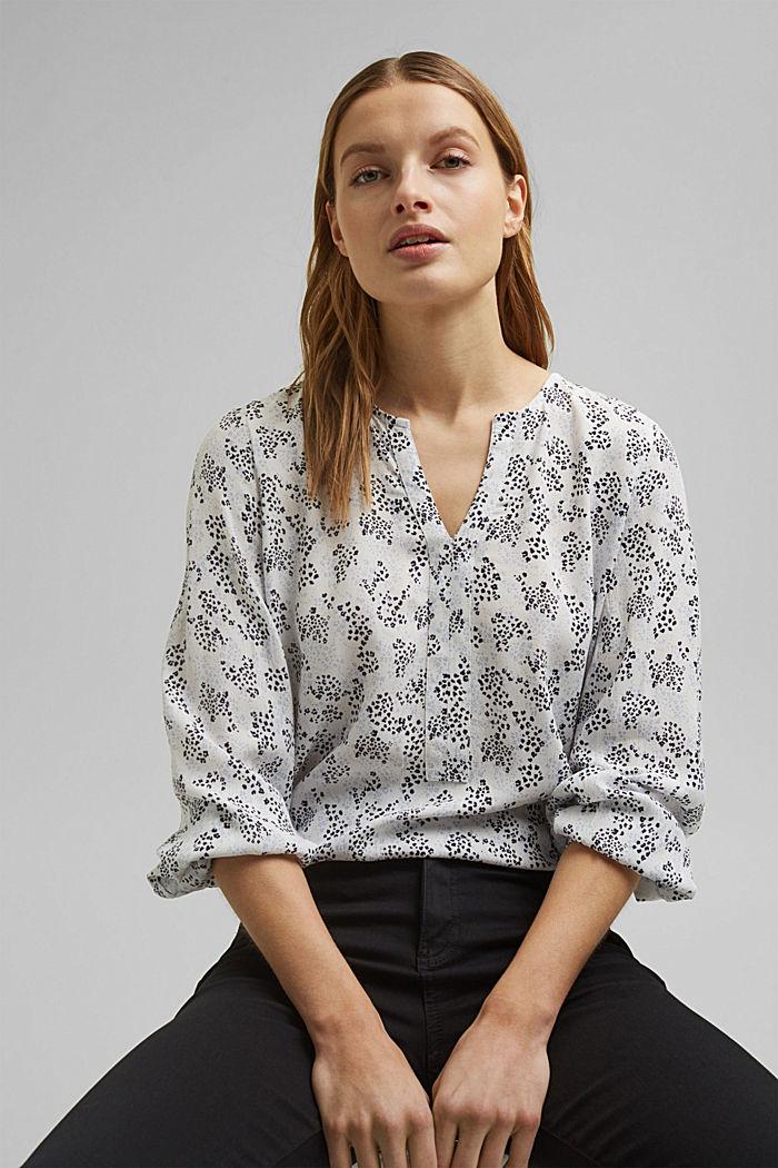 Blusa cerrada de LENZING™ ECOVERO™, OFF WHITE, detail image number 0