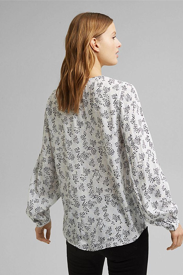 Slip-on blouse made of LENZING™ ECOVERO™, OFF WHITE, detail image number 3