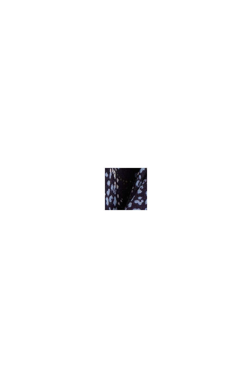 Blouse zonder sluiting van LENZING™ ECOVERO™, NAVY, swatch