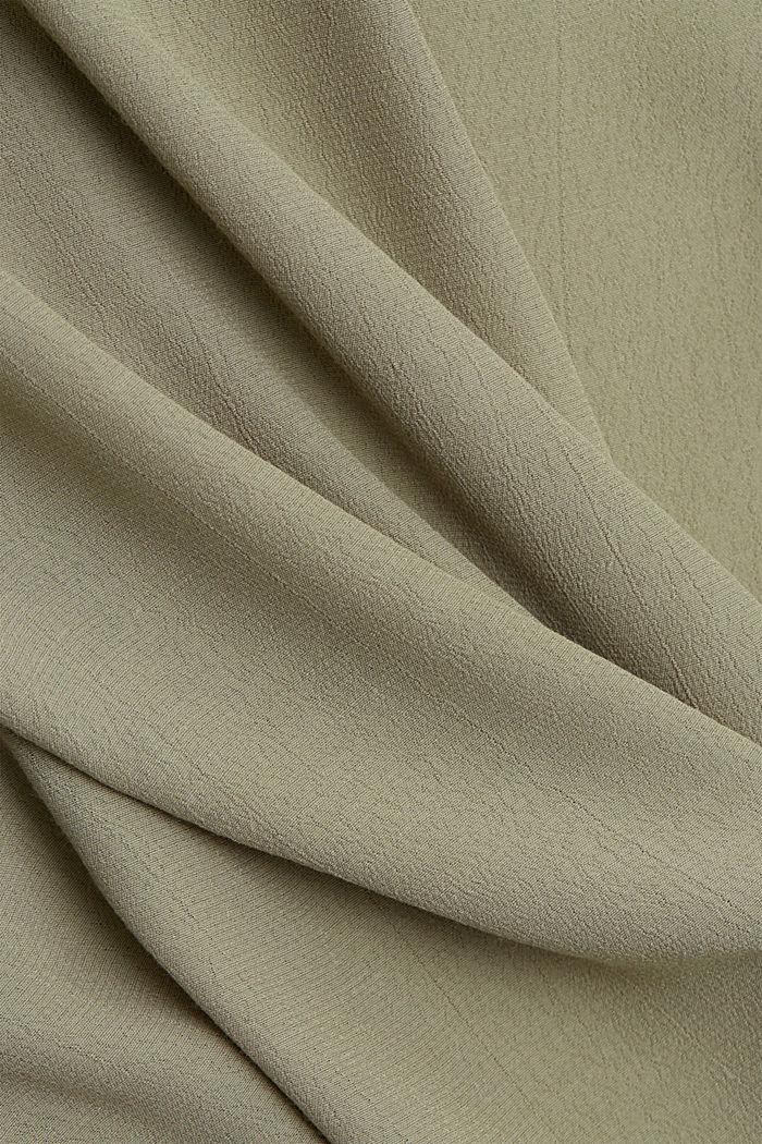 Tunic blouse made of LENZING™ ECOVERO™, LIGHT KHAKI, detail image number 4