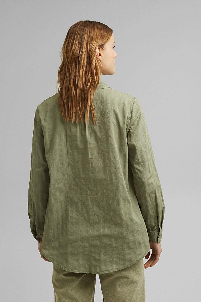 Turn-up-Bluse aus 100% Bio-Baumwolle, LIGHT KHAKI, detail image number 3