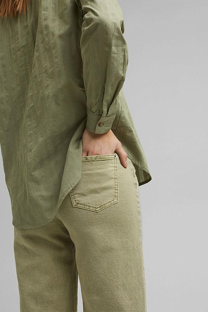 Turn-up-Bluse aus 100% Bio-Baumwolle, LIGHT KHAKI, detail image number 2