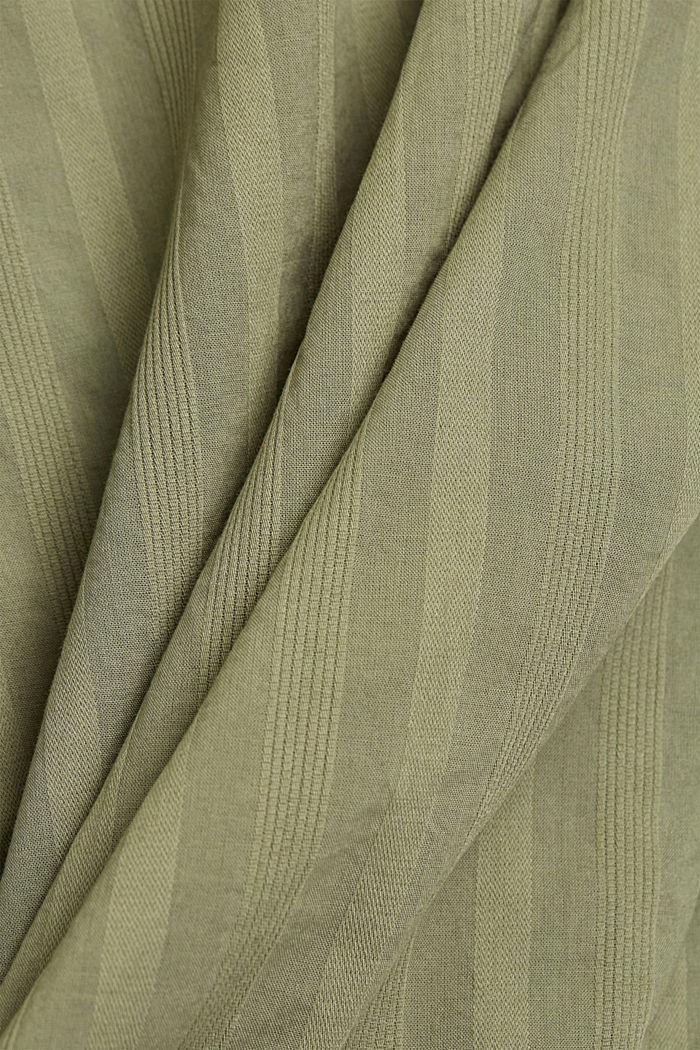 Turn-up-Bluse aus 100% Bio-Baumwolle, LIGHT KHAKI, detail image number 4