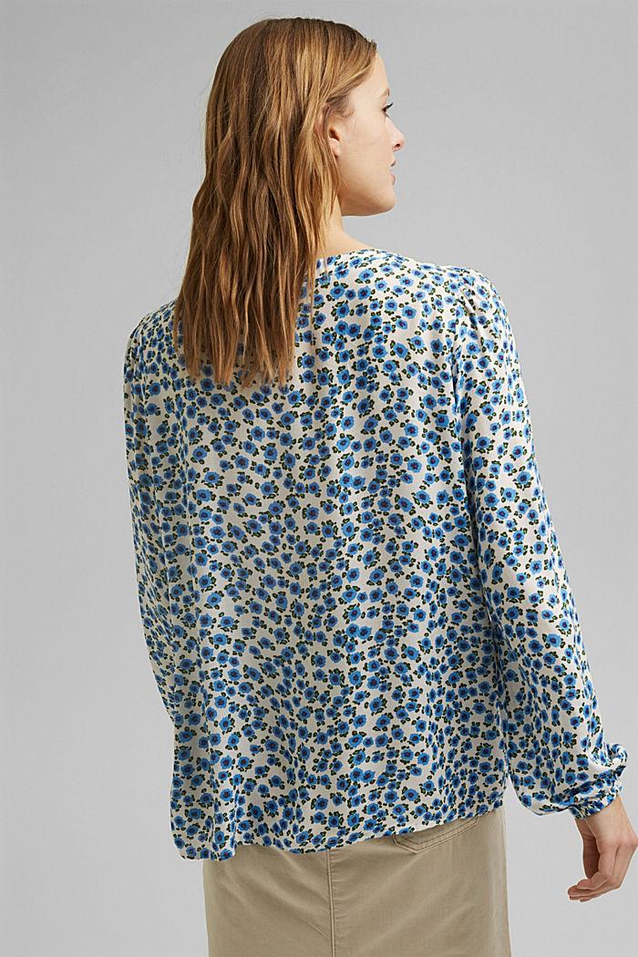 Bluse med små blomster, i LENZING™ ECOVERO™, OFF WHITE, detail image number 3