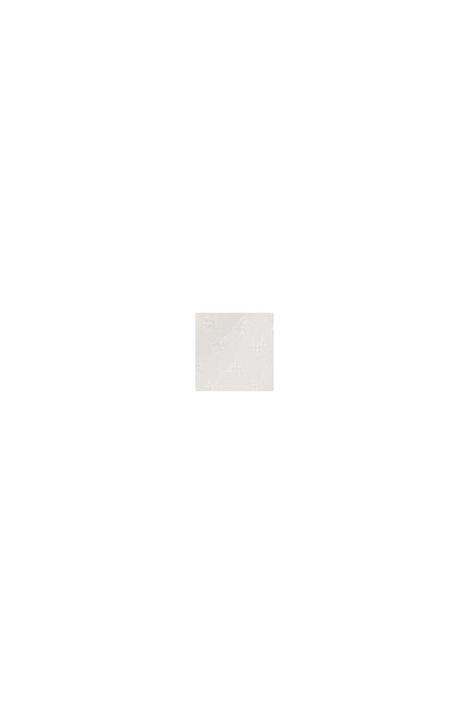 Zarte Smok-Bluse aus LENZING™ ECOVERO™, OFF WHITE, swatch
