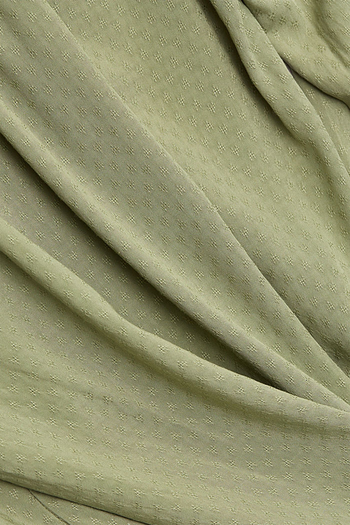 Dainty smocked blouse made of LENZING™ ECOVERO™, LIGHT KHAKI, detail image number 4