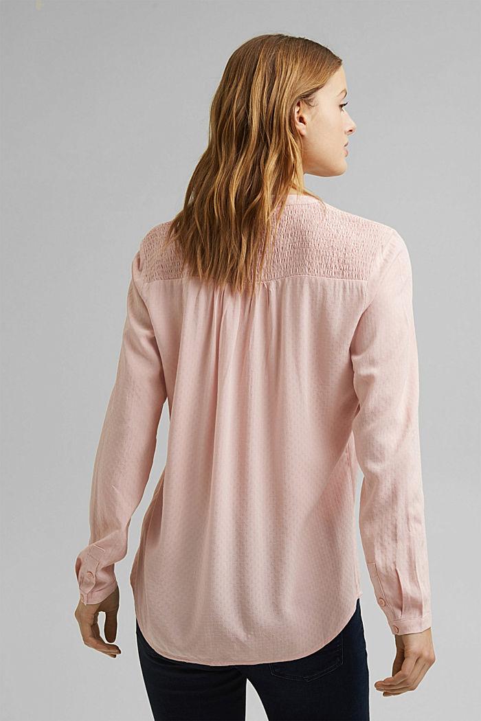 Zarte Smok-Bluse aus LENZING™ ECOVERO™, NUDE, detail image number 3
