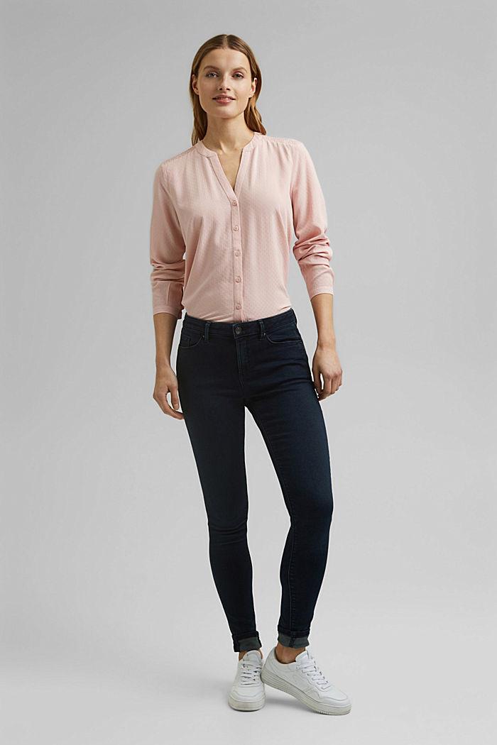 Zarte Smok-Bluse aus LENZING™ ECOVERO™, NUDE, detail image number 1
