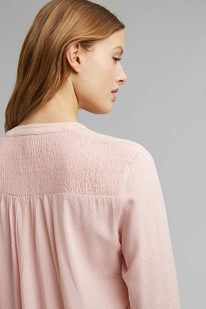 Zarte Smok-Bluse aus LENZING™ ECOVERO™, NUDE, detail image number 5