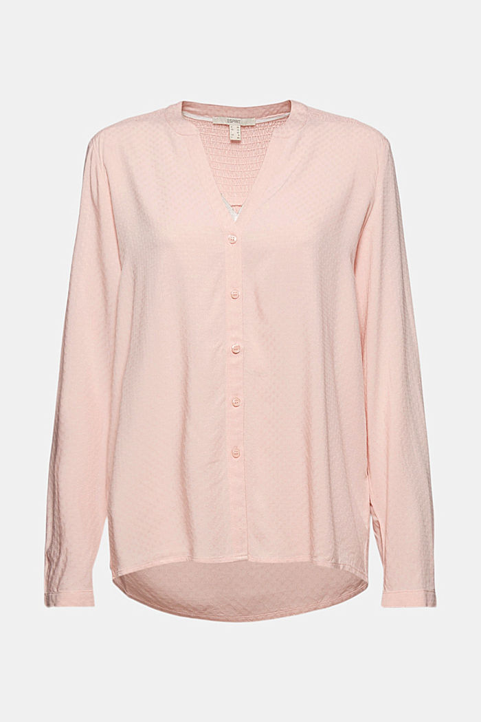 Dainty smocked blouse made of LENZING™ ECOVERO™
