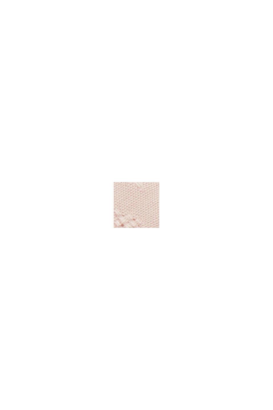 Zarte Smok-Bluse aus LENZING™ ECOVERO™, NUDE, swatch
