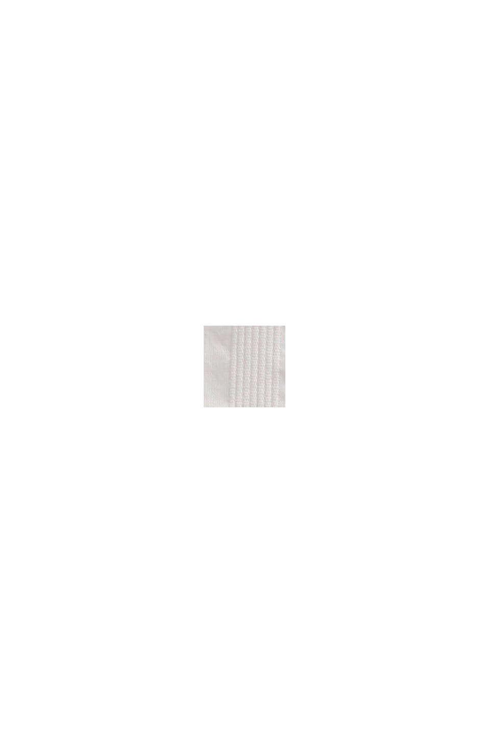 Blusa de textura en 100% algodón ecológico, OFF WHITE, swatch