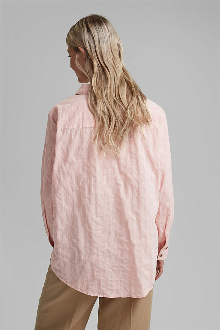 Textured blouse made of 100% organic cotton, NUDE, detail image number 3