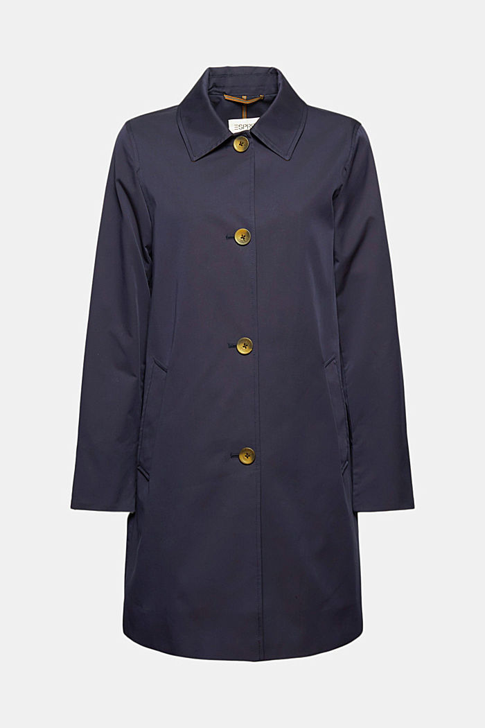 Straight-cut cotton coat
