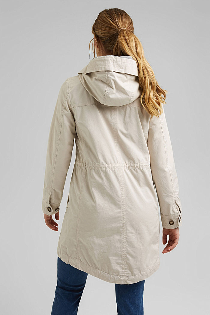 Short parka with organic cotton, CREAM BEIGE, detail image number 3