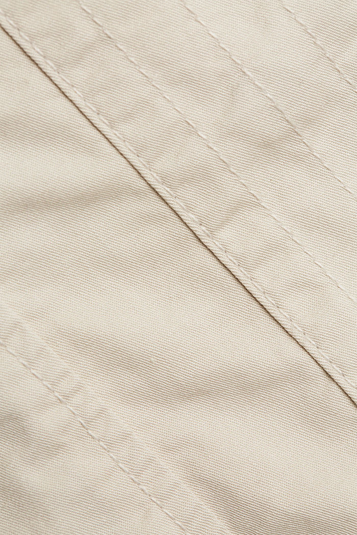 Short parka with organic cotton, CREAM BEIGE, detail image number 4