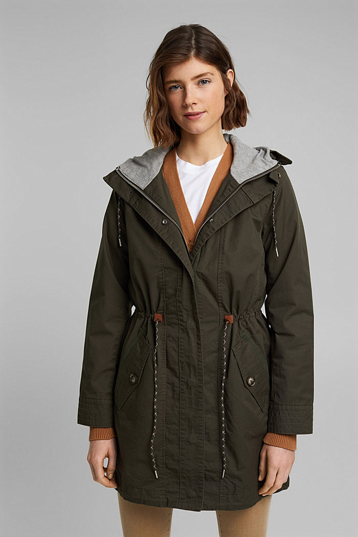 Short parka with organic cotton