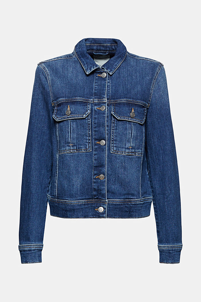 Jeansjacke im Washed-Look aus Organic Cotton