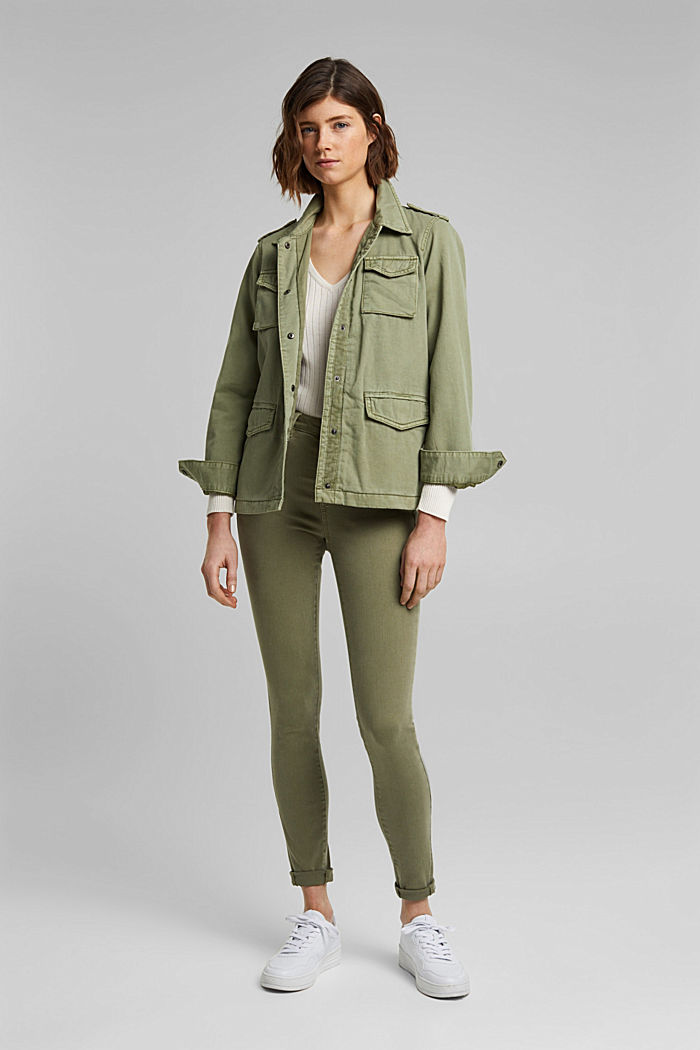 Light jacket in a utility look, LIGHT KHAKI, detail image number 1