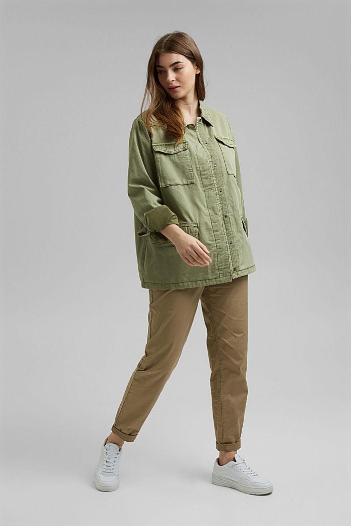 CURVY utility-style jacket, LIGHT KHAKI, detail image number 1