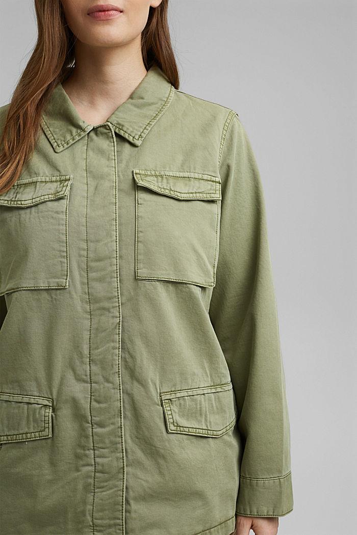 CURVY utility-style jacket, LIGHT KHAKI, detail image number 2