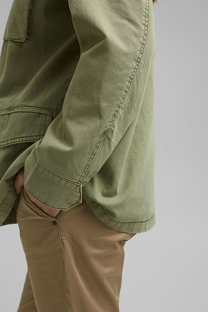 CURVY utility-style jacket, LIGHT KHAKI, detail image number 5