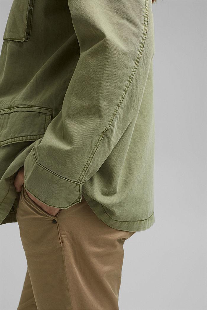 CURVY Jacke im Utility-Stil, LIGHT KHAKI, detail image number 5
