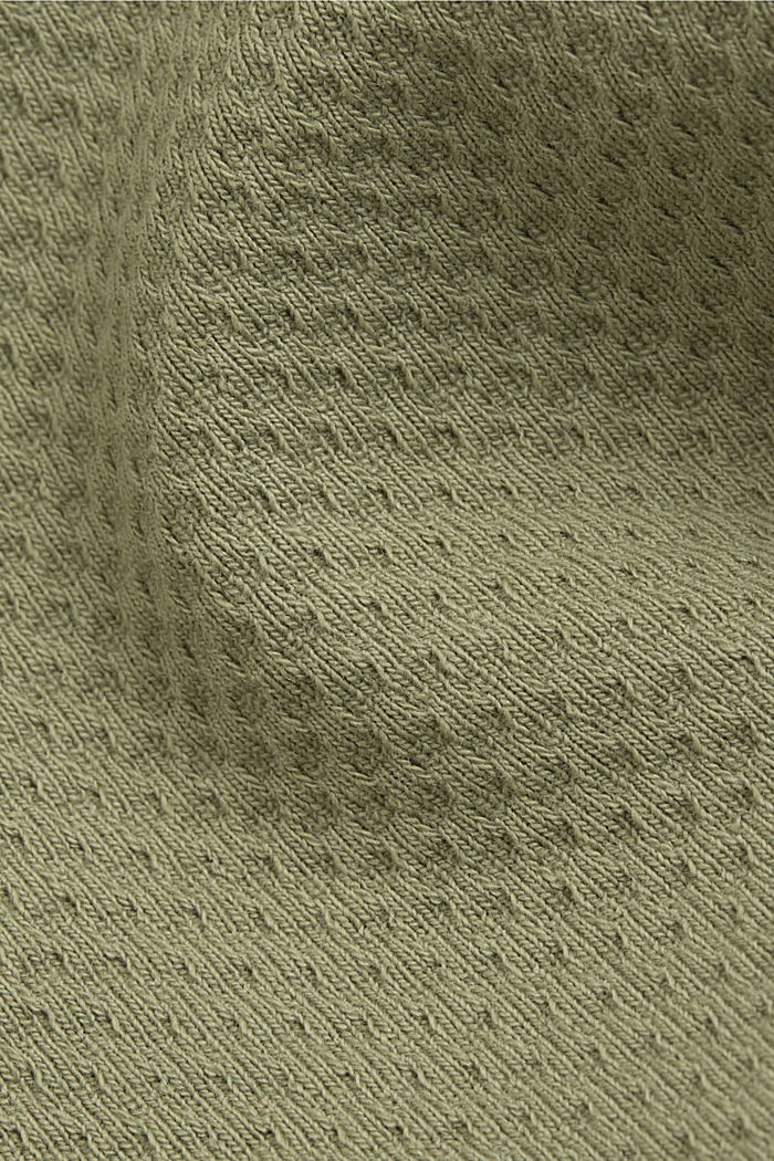 Textured jersey blazer, made of organic cotton, LIGHT KHAKI, detail image number 4