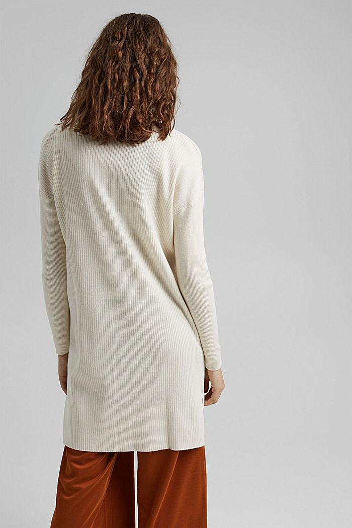 Rib knit cardigan made of 100% organic cotton, OFF WHITE, detail image number 3