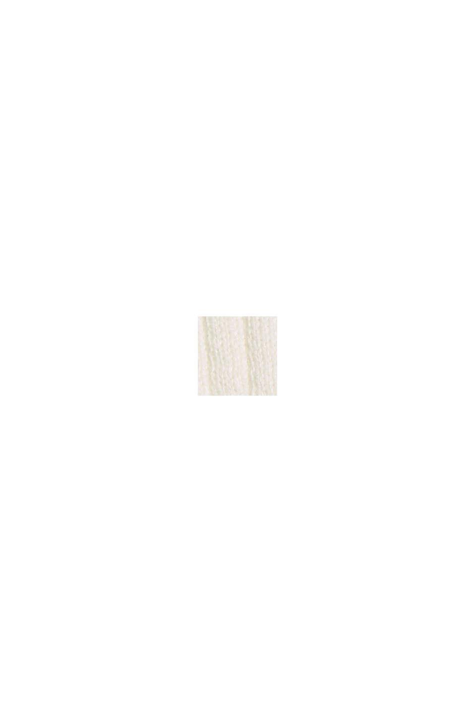 Ribbstickad kofta av 100% ekobomull, OFF WHITE, swatch
