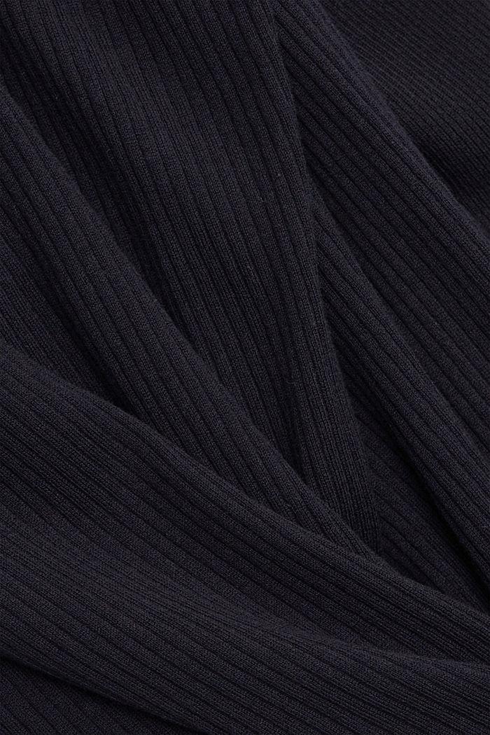 Rippstrick-Cardigan aus 100% Bio-Baumwolle, NAVY, detail image number 4