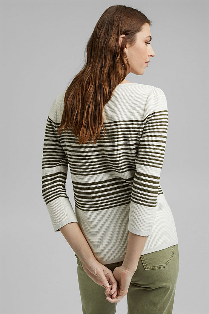 Textured jumper containing organic cotton, OFF WHITE, detail image number 3
