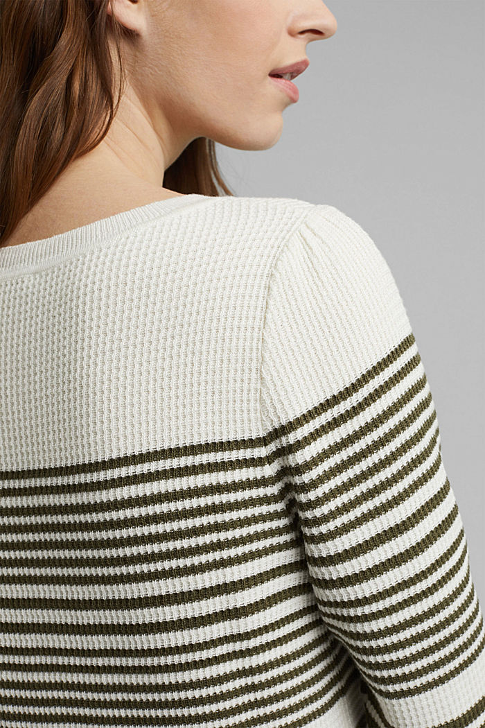 Textured jumper containing organic cotton, OFF WHITE, detail image number 2