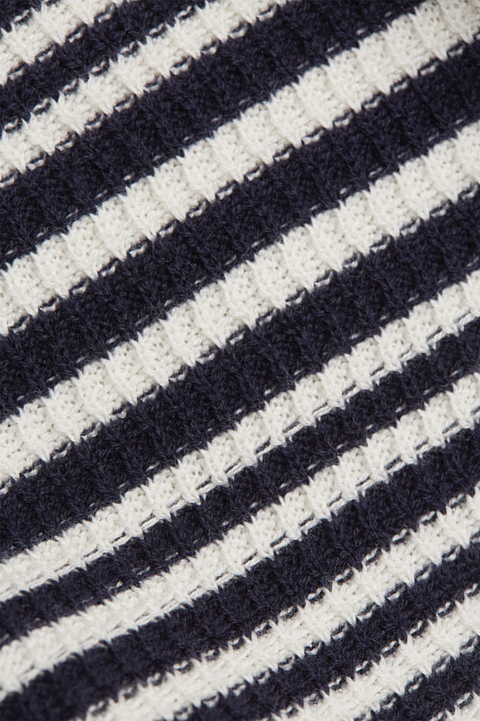 Textured jumper containing organic cotton, NAVY, detail image number 4