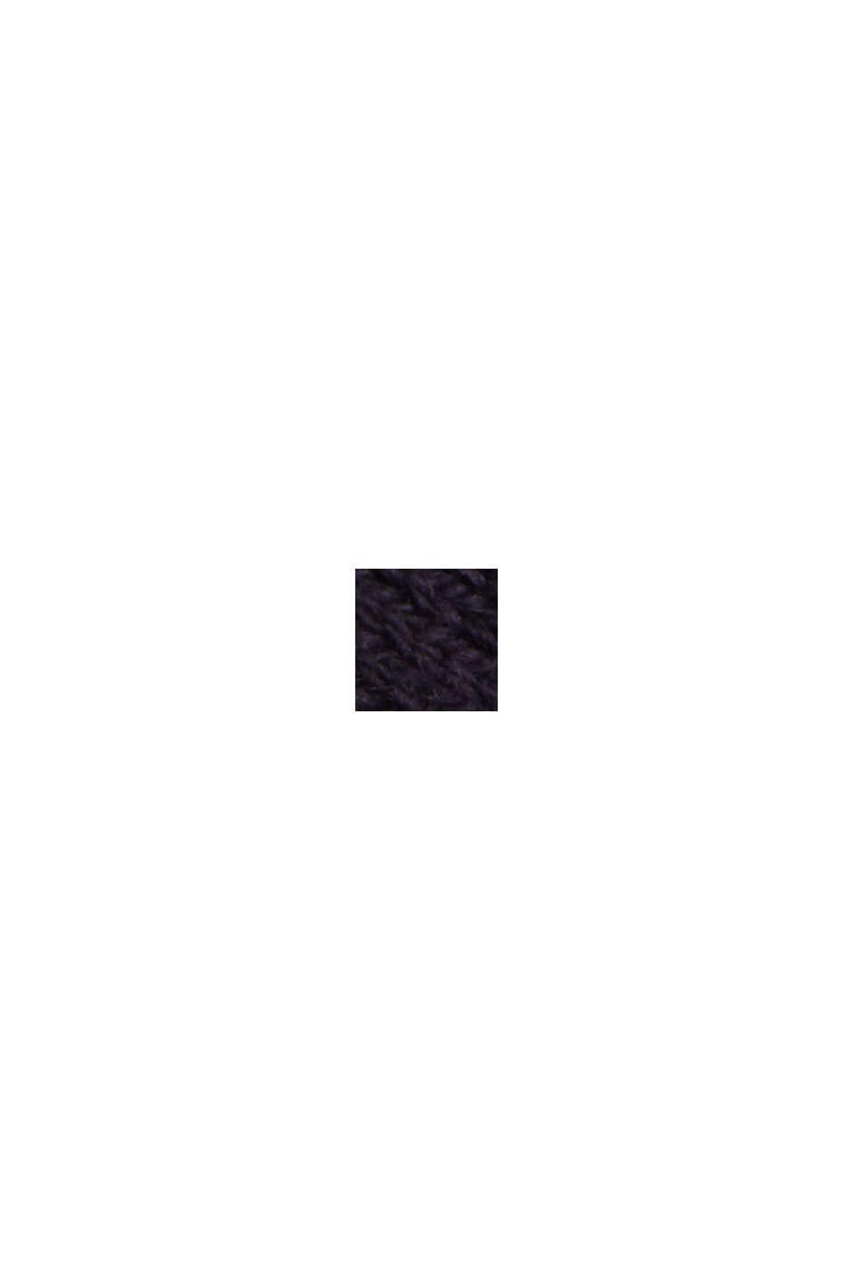 Mit Seide: Ripp-Pullover mit V-Ausschnitt, NAVY, swatch