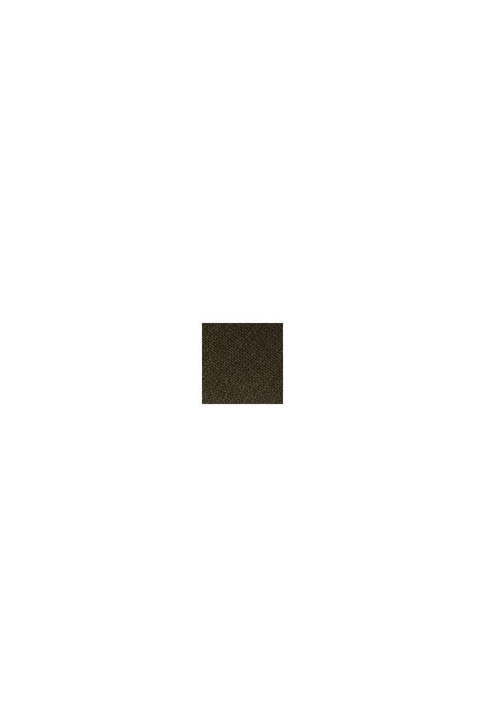 Mit Seide: Pullover mit V-Ausschnitt, KHAKI GREEN, swatch