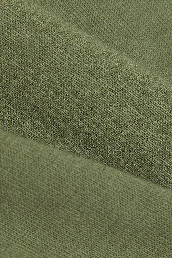 Silk blend: jumper with a breast pocket, LIGHT KHAKI, detail image number 4